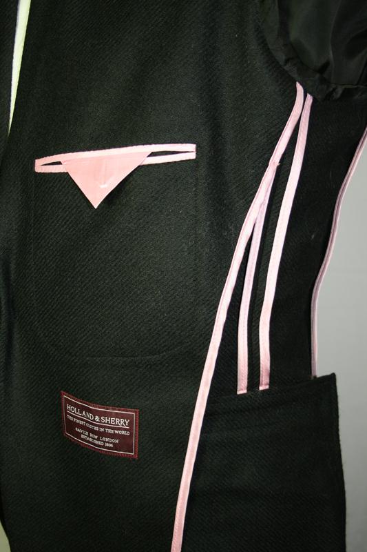 Vest half gevoerd, contrastrijke